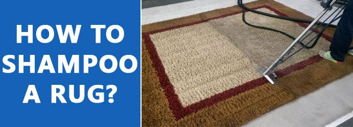 How to shampoo a rug