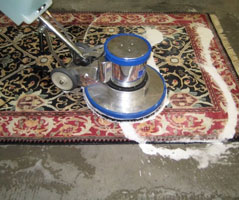 Rug dry cleaning