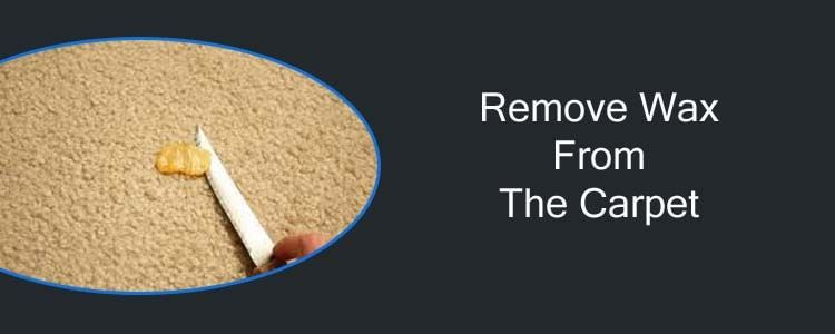 Remove Wax from The Carpet